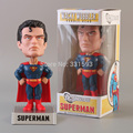 FUNKO Wacky Wobbler DC Universe Superman Bobble Head PVC Action Figure Collection Toy Doll Model Free Shipping