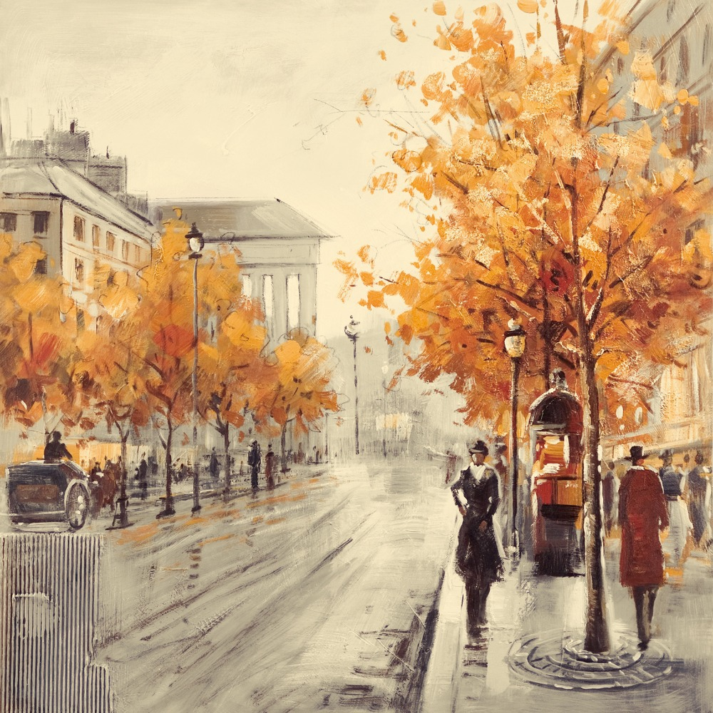 City Autumn Street Paintings for Sale (Page #12 of 18) - Fine Art ...