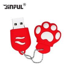 USB flash Drive 32GB Cat paw Pen drive 64GB 16GB 8GB