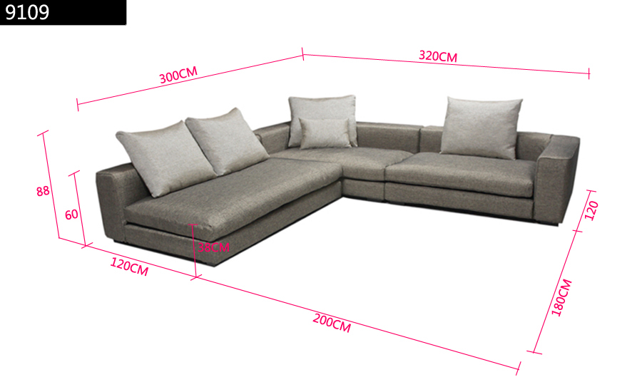 Dimensions Of L Shaped Sofa Hereo
