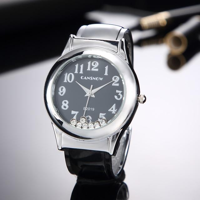 Watch Women 2018 New Stylish Crystal Bracelet Watches Lady Dress Wristwatch Girl