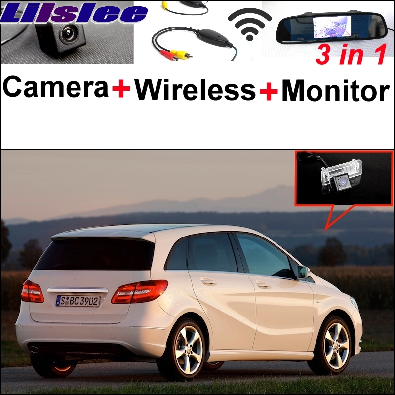 Liislee For Mercedes Benz MB B Class W246 B180 B200 B220 B250 Special Camera Wireless Receiver Mirror Monitor Parking System liislee 3in1 special camera wireless receiver mirror screen diy rear view parking system for mercedes benz mb b class w245