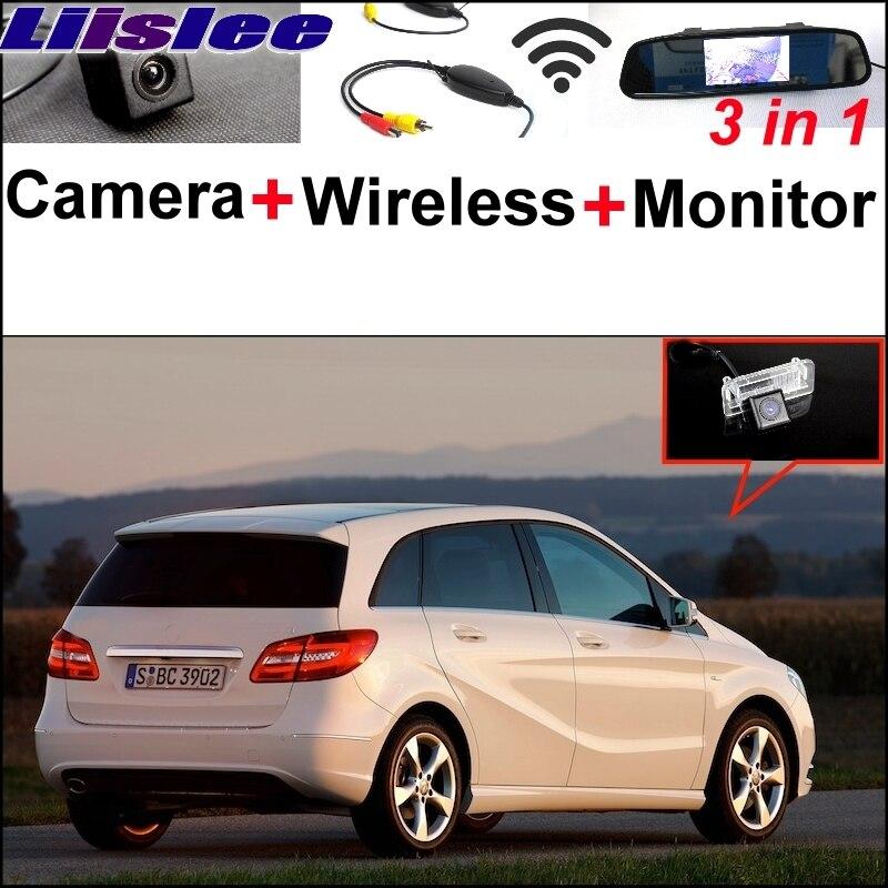 Liislee pour Mercedes Benz MB B classe W246 B180 B200 B220 B250 caméra spéciale sans fil récepteur miroir moniteur système de stationnement