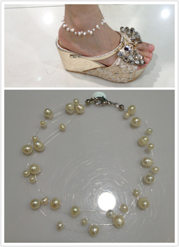 Natural Pearl Anklets Fresh Water Pearl Anklets Multilayer Real Pearl Anklets