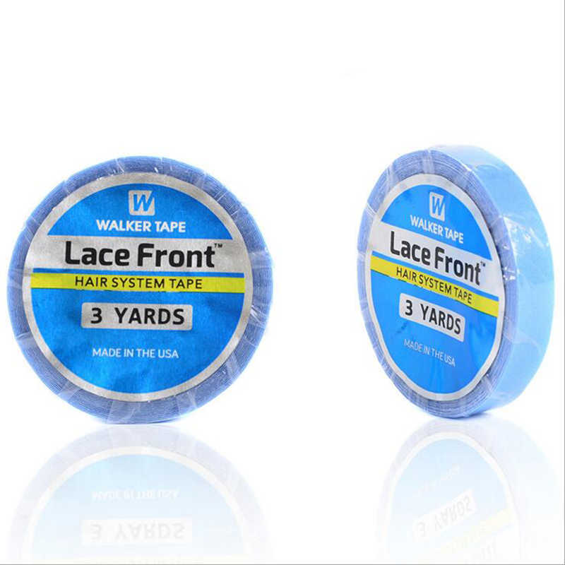 1 roll 1cm*3 yards Lace Front Support Tape Super Hair Blue Tape Double-sided Adhesive Tape For Hair Extension/Lace Wig/Toupee