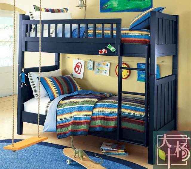 American Blue Wood Bunk Beds Custom Solid Wood Furniture Custom