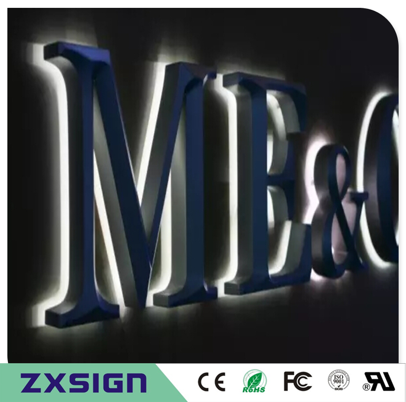Factory Outlet  Exterior Waterproof Stainless Steel Backlit Led Letter Light