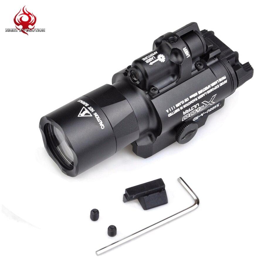 x400u a weapon light high output x400 ultra white light Night Evolution X400U LED Flashlight Tactical Weapon Light Airsoft Rifle Gun Light NE01009