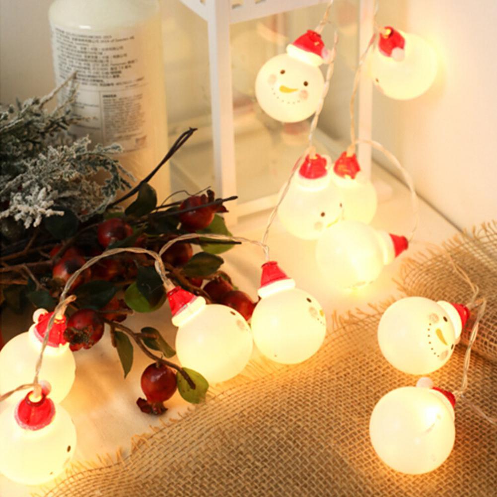 AKDSteel LED encantador muñeco de nieve forma de la luz para el hogar Garden Party decoración de Navidad