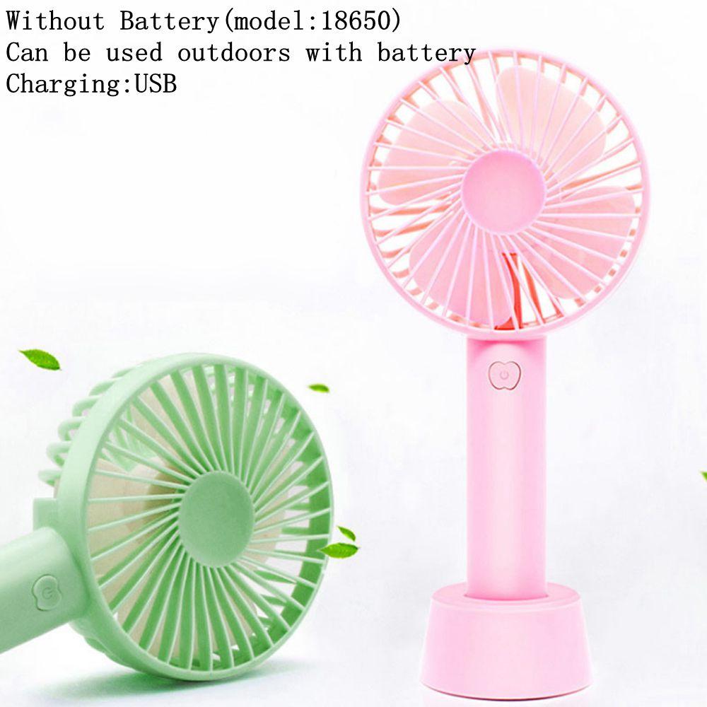 Color : Green Air Cooler Mini Portable Folding Fan USB Magnetic Fan Blade Handheld Small Fan Student Desktop Fan Outdoor Cute Fan