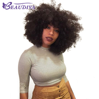 Short Human Hair Wigs For Black Women Brazilian Afro Kinky Curly Human Hair Wig Remy Hair Machine Made Wigs