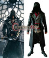 Homens assassins Creed Assassins Creed Cosplay Adulto Sindicato Jacob Frye D0314 do Dia Das Bruxas Cosplay Traje Feito Sob Encomenda