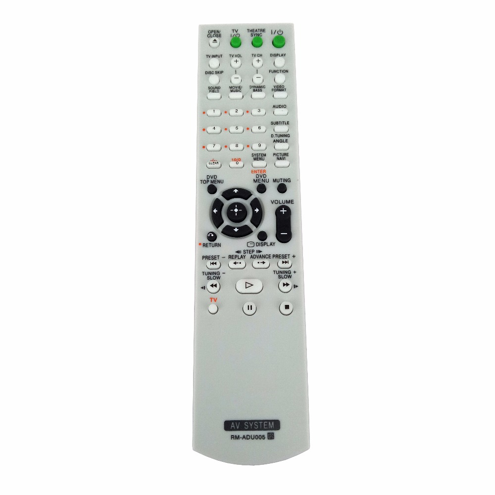 RM-ADU005 Remote control for Sony DVD Home Theater System DAV-DZ630 HCD-DZ630 DAV-HDX265