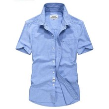 Short sleeved shirts mens summer wear  big size cotton casual military uniform