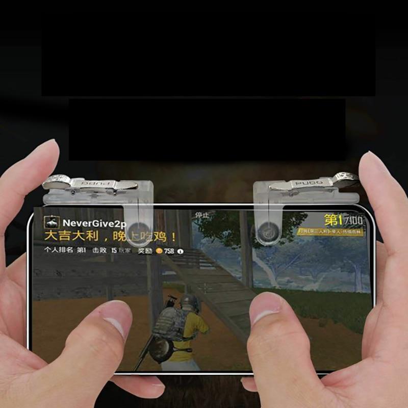 Image 5 - 2 pièces PUBG Mobile Gamepad Manette De Jeu Mobile Tireur Feu Bouton Déclencheur L1R1 Joystick Pour iPhone Téléphone Xiaomi JeuGamepads   -