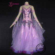 2016 Sequin Bright Rhinestone New International Ballroom Dance Dress B-10354