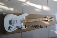 Wholesale White ST signature style star fret inlay maple fingerboard stratocaster electric guitar free shipping @3