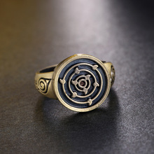 Naruto Bronze Round Eye Vintage Rings