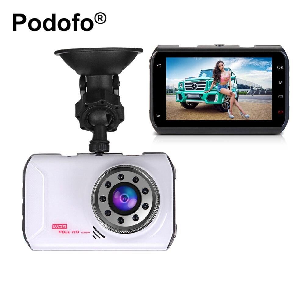 Podofo Novatek 96223 Macchina Fotografica Dell'automobile DVR 3 Pollice FHD 1080 P WDR G-sensore di Visione Notturna Registrator Video Recorder Dash Cam dvr