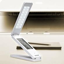 Dimmable LED Lámparas de Escritorio Plegable Recargable de Lectura lámpara de Mesa Lámpara Light Touch Control de Temperatura Calendario Despertador Lámpara