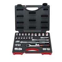 Industriële grade 25pcs 3/8 ratelsleutels combinatie set flank sockets 6 22mm hand tool set Auto reparatie tools-in Handgereedschapssets van Gereedschap op