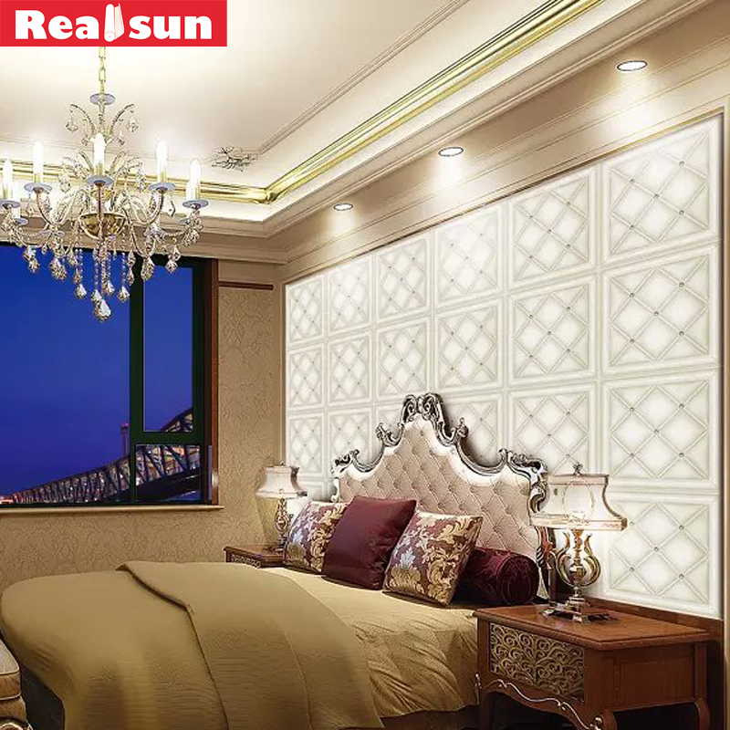 New Arrival 3d Pu Leather Wall Panel For Bedroom Europe 3d