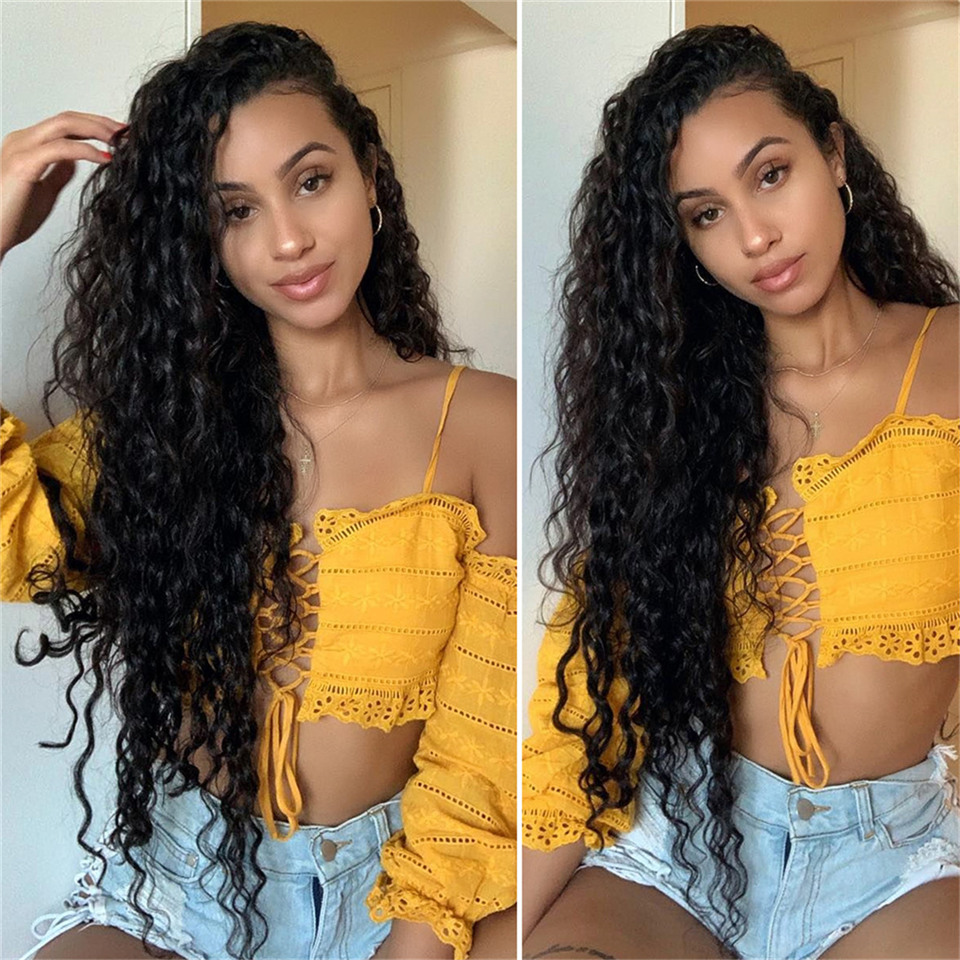 Lace Front Human Hair Wigs Peruvian Lace Fronatl Water Wave Human Hair Lace Front Wigs Pre Plucked With Baby Hair Black Women