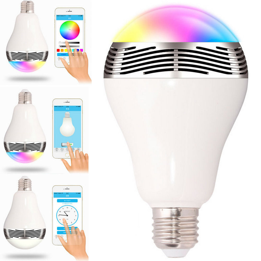 Smart Led Bulb Us 41 92 E27 3w App Wireless Bluetooth 4 Smart Led Light Bulb Music Speaker Lamp Audio Speaker For Iphone Ipad Ios Android Devices In Novelty