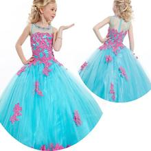 Beauty Pageant Dresses For Little Girls Pageant Gowns 2015 10 Kids Ball Gowns Princess 10 Sheer Junior Girls Wedding Dresses все цены