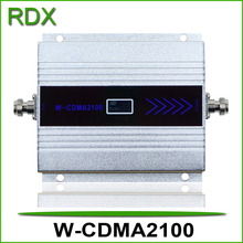 Mini lcd display 3g w-cdma 2100mhz repeater high gain 65dB wcdma2100 UMTS booster amplifier with power adaptor on promotion
