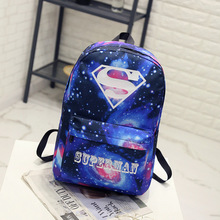 6e72101a1f2d BONAMIE Night Light Cool Backpack Superman Backpacks Luminous School Bags  For Teenager Girls Boys Book Bag