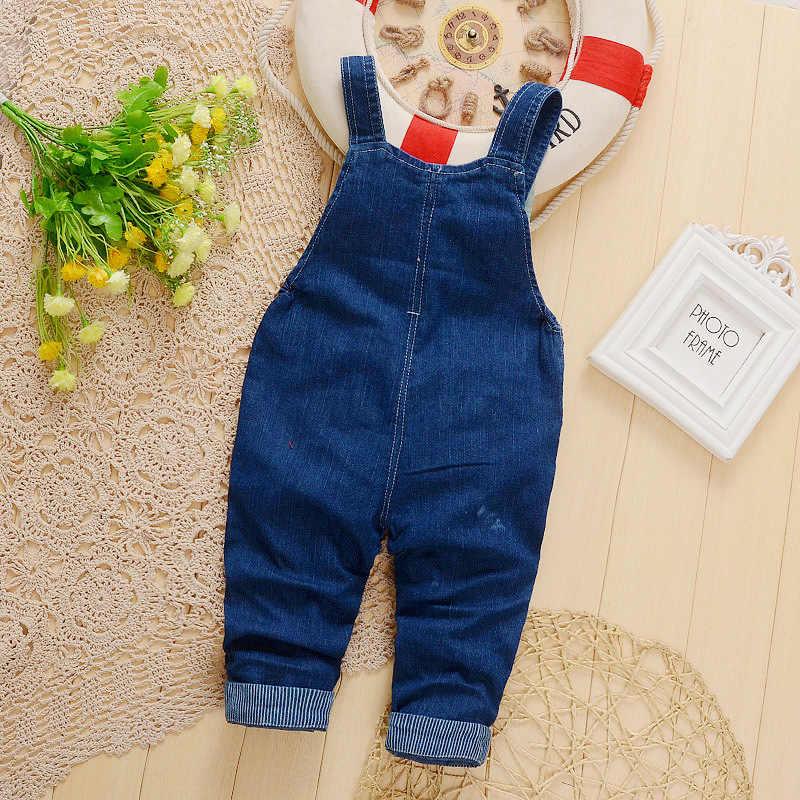 2018 Bebek Kız Tulum Pantolon Pantolon Kot Bebek Denim Tulum Önlük Pantolon Toddler Bahar Sonbahar Kot Tulumlar Giysileri