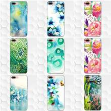 Spring Art Green Blue Watercolor For Samsung Galaxy A3 A5 A6 A6s A7 A8 A9 Star Plus 2016 2017 2018 Soft Phone Cases Cover(China)