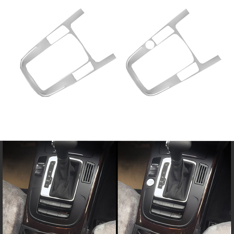 Car Styling Gear Shift Frame Panel Decoration Cover Trim Stainless Steel Stickers For Audi A4 B8 Q5 2009 2016 Year Accessories
