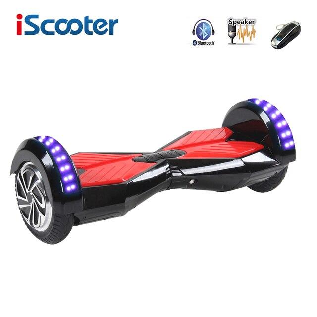 Hoverboard 8 дюймов bluetooth giroskuter 2 Колеса Самостоятельно балансировки Электрический Скутер два Смарт-Колесо с Дистанционным Скейтборд iScooter