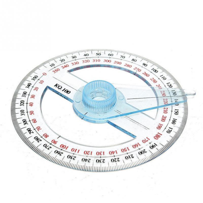 Protractors Plastic 360 Degree Protractor Round Ruler Edge