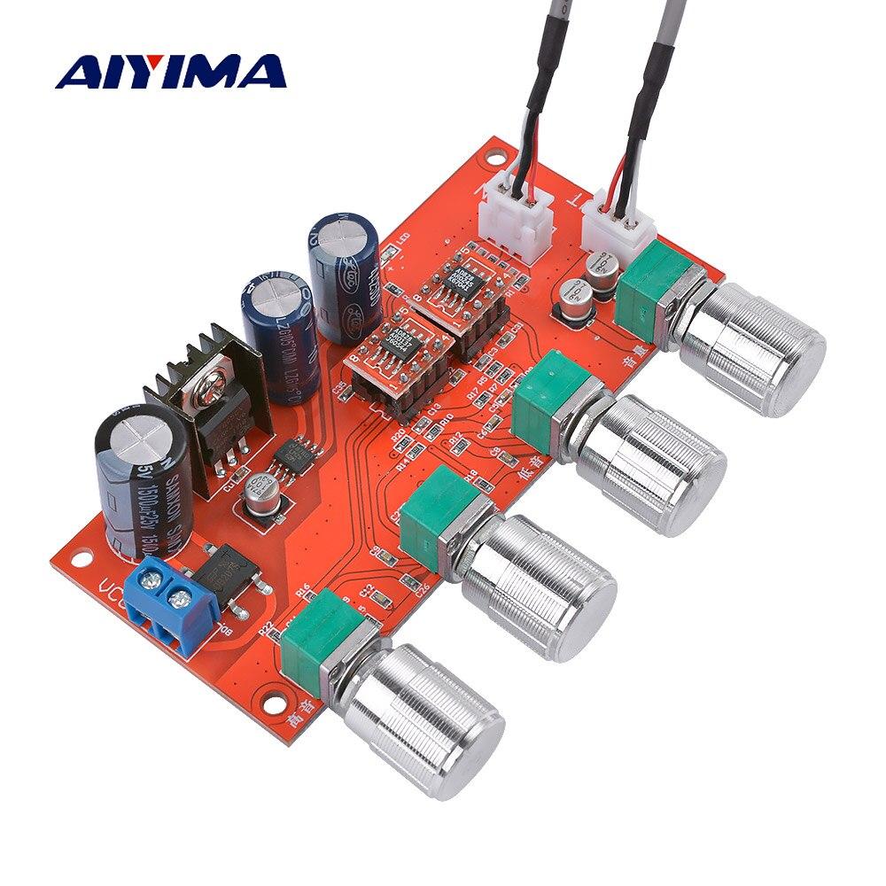 AIYIMA AD828 HIFI Stereo amplifier Preamp placa de Controle do Tom do volume Pré-amp Preamplifier Conselho Melhor do que NE5532