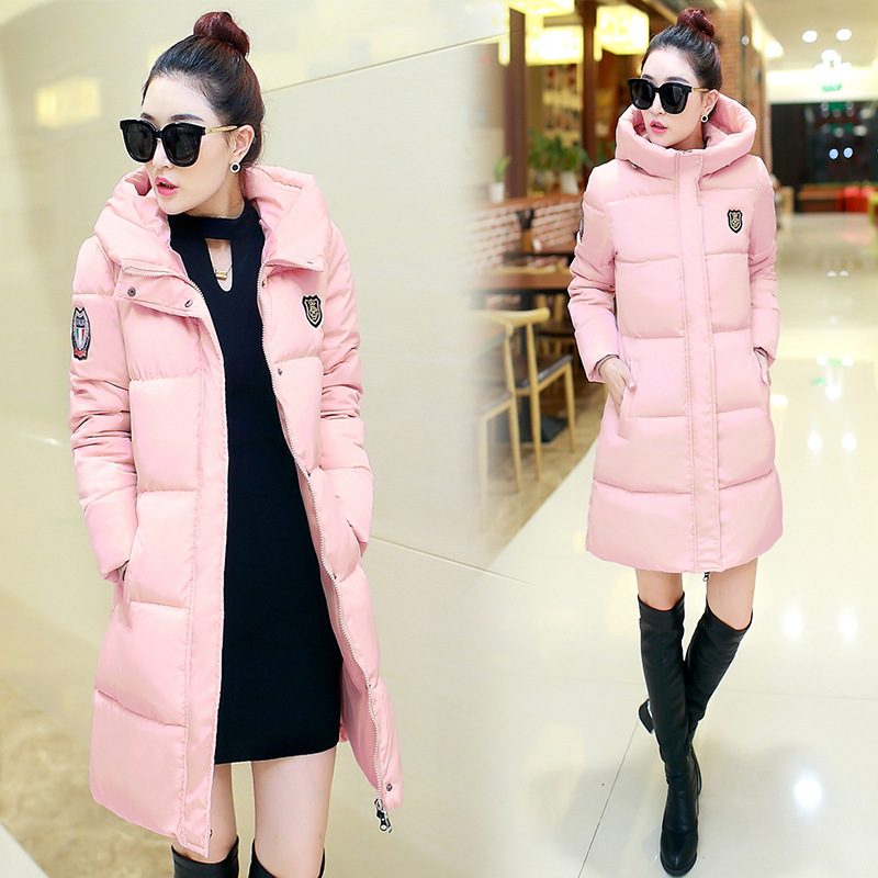 2016 Winter Hooded Women Parkas Women's Wadded Jacket Outerwear Fashion Cotton-padded Jacket Medium-long Coat linenall women parkas loose medium long slanting lapel wadded jacket outerwear female plus size vintage cotton padded jacket ym