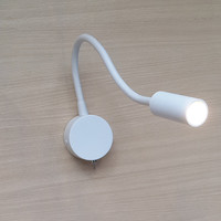 Topoch Wand Lampen Indoor 2-Pack LED 3 W AC100-240V Fokussierten Strahl Aluminium Schlauch Flexible Weiß Finish für Schlafzimmer wohnmobile Boote