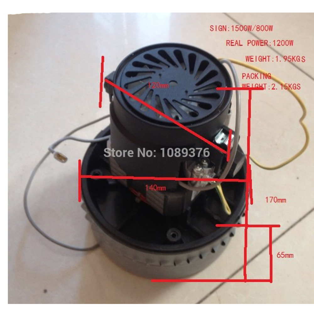 Free Post New 1200W Industrial Vacuum <font><b>cleaner</b></font> motor normal quality 1.95kgs DIY