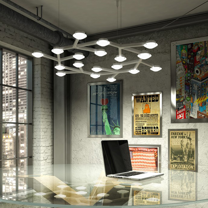 Moderne Home-Deco-Wohnzimmer minimalistischen LED-Baum Deckenleuchte - Innenbeleuchtung - Foto 3
