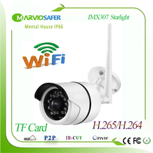 New Starlight Wi fi IP Network Camera Wireless Darklight CCTV Camera Sony IMX307 Sensor Colorful Night Vision TF Card Slot