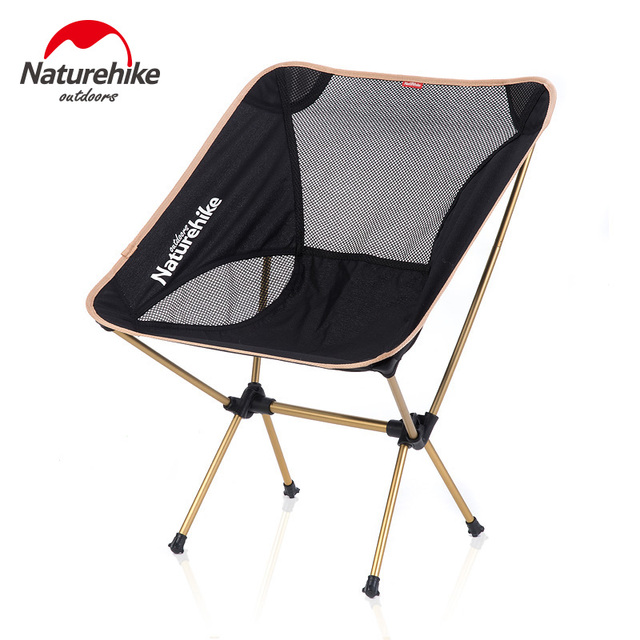 NatureHike New Upgrade Fishing Chair Portable Folding Moon Chair Camping  Hiking Gardening Barbecue Chair Folding Stool
