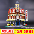 LEPIN 15002 City Street Creators Cafe Corner Model Building Kits  Assembling Blocks Kid Toy compatible 10182