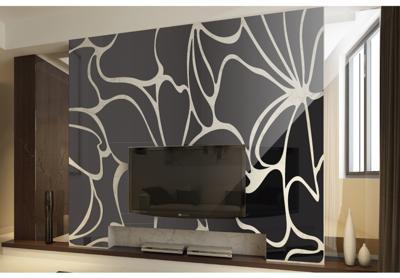 Acrylic Embossed Mirror Three Dimensional Wall Stickers