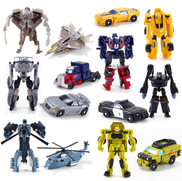 Transformation Kids Classic Robot Cars Toys For Children 7pcs/lot Action Figures Birthday Christmas Gift For Boy meng badi 1pcs lot transformation toys mini robots car action figures toys brinquedos kids toys gift