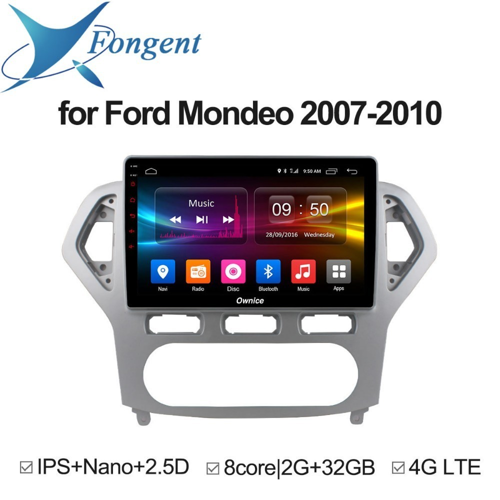 for Ford Mondeo 2007 2008 2009 2010 Car 10.1 Inch 2.5D Android Unit Car DVD GPS Navigator Radio Intelligent Multimedia Player