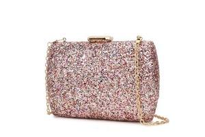 Image 2 - Luxury Sequins Fashion Party Wedding Clutch Bag Evening Bag Ladies Mini Messenger Bag For Women Flap Shoulder Bag Handbag Purse