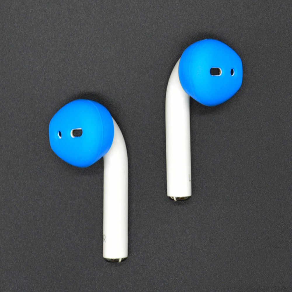 1 ペアイヤホン交換耳栓プロテクター耳パッドヘッドセットの耐震ソフトシリコーンイヤフォンケース Apple の AirPods