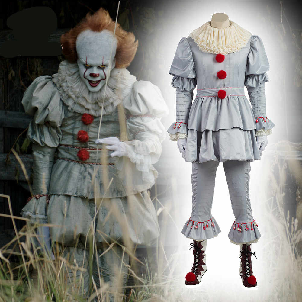 Stephen King's It Mask Pennywise Horror одежда для клоуна Маска Клоун маска на Хеллоуин для косплея костюм реквизит ужас маска пеннивайза